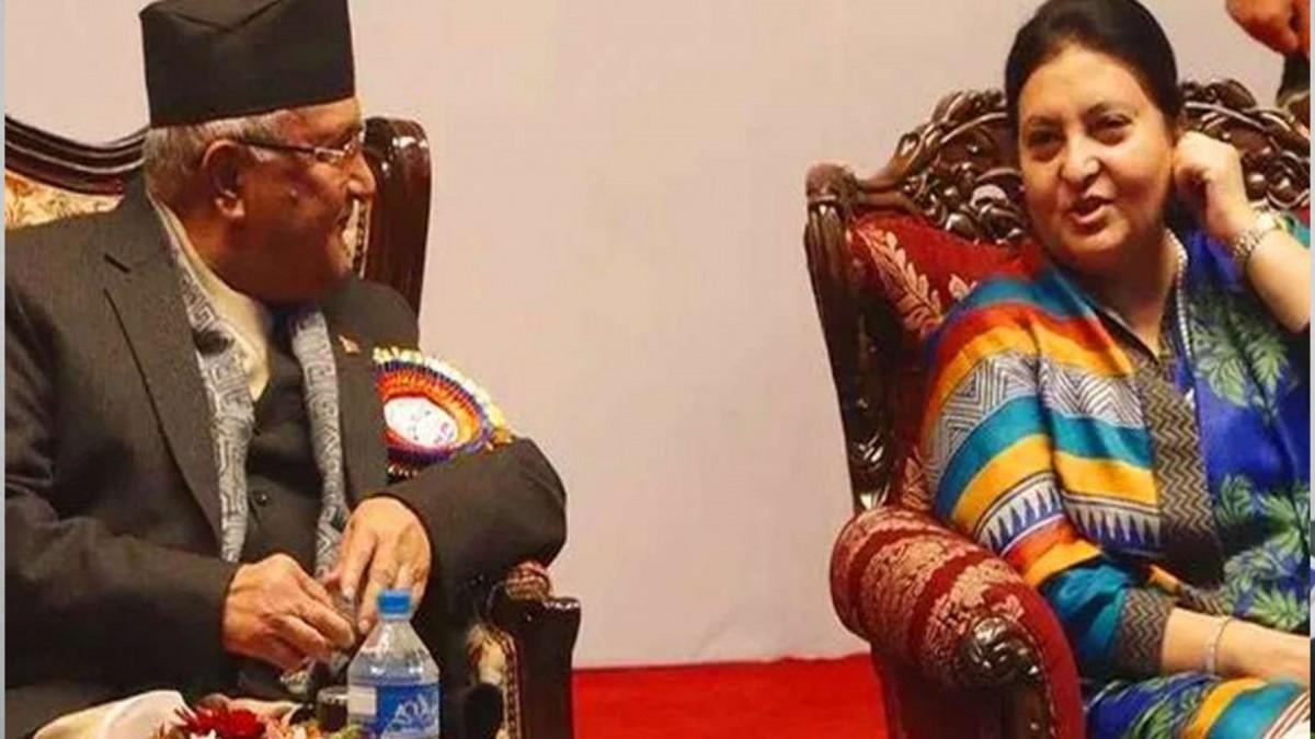 राष्ट्रपति भेट्न शितलनिवासमा प्रधानमन्त्री ओली, के हो बिशेष ?