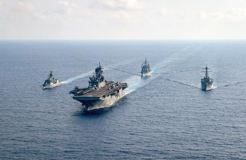चीनलाई तर्साउन दक्षिण चीन सागरमा अमेरिका र फिलिपिन्सको युद्ध अभ्यास !