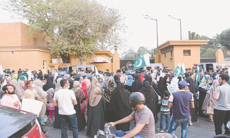 पाकिस्तानमा बेपत्ता छानबीनको माग गर्दै प्रदर्शन