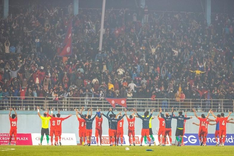 नेपाल भारतबीच रोमाञ्चक खेल, भारतले २ गोल हान्दा नेपालले १ फर्कायो