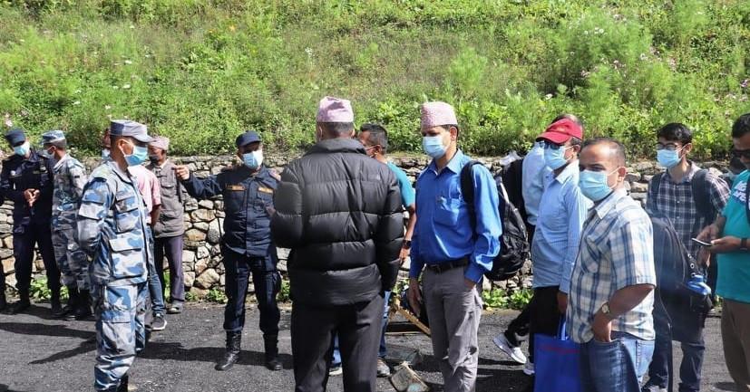 चीनले नेपाली भूमि मिचेर बडेमान भवन बनाएको हुम्लाको लाप्चा पुग्यो सरकारी टोली, एक इन्च पनि जमिन नछोड्ने
